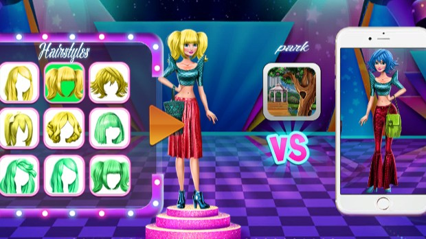 Jogo Dress Up Battle Fashion Rivals