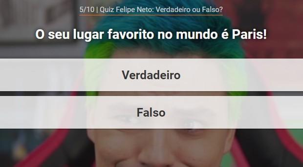 Quiz Felipe Neto