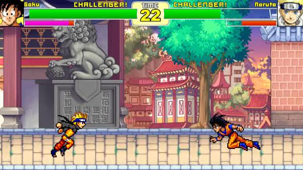 Jogo Dragon Ball Z VS Naruto: Vegeta