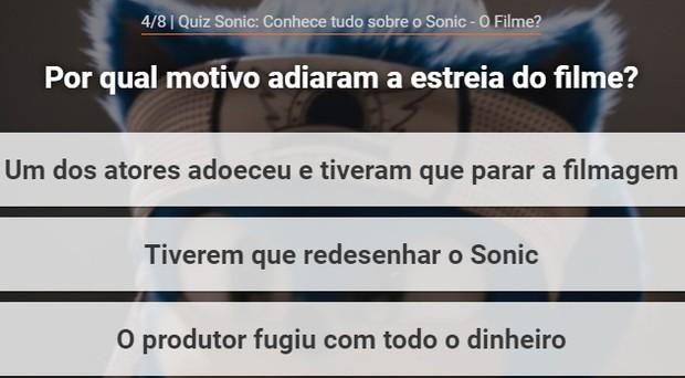 Quiz do Sonic