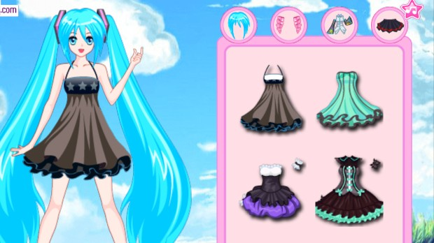 Jogo Hatsune Miku Dress up
